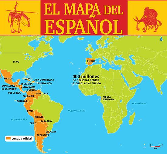 Listening and Writing Spanish Speaking Countries